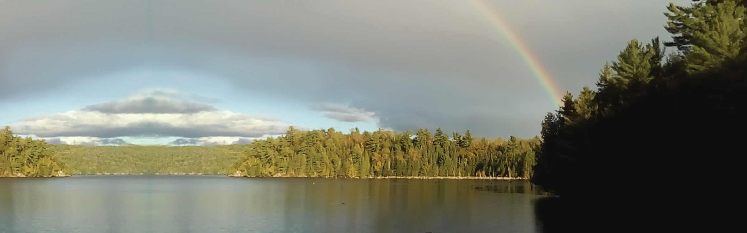 Rainbow over the Madawaska River
